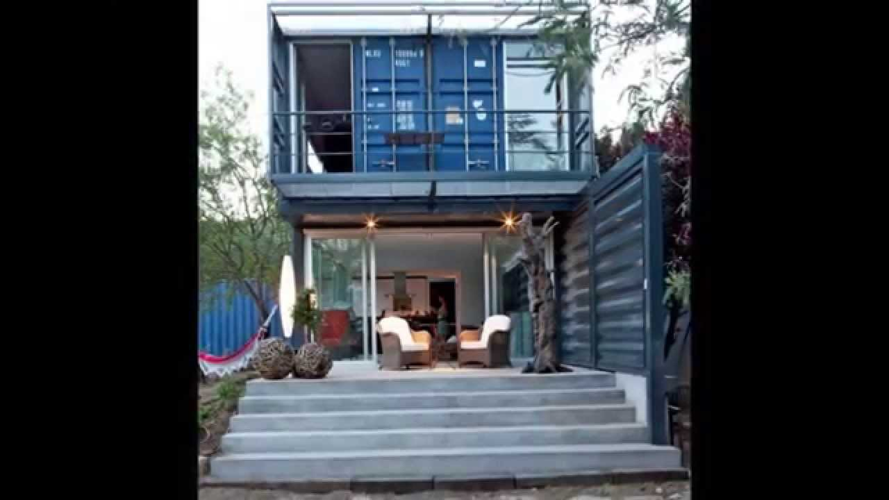 hermosas casas hechas con contenedores - youtube