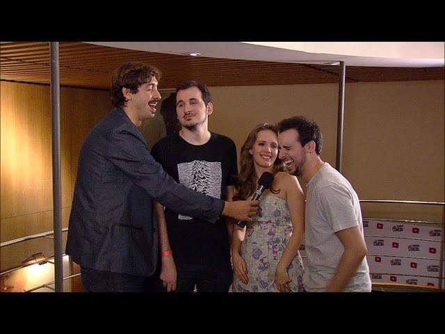Marcos Castro nos Bastidores do Show de Abertura da Semana da Comédia