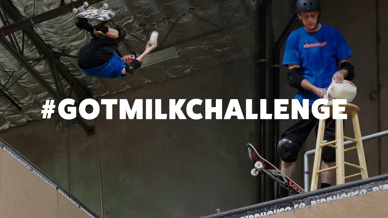 Tony Hawk's Got Milk Challenge - 540 on a Skateboard