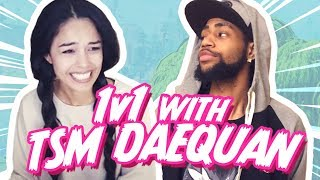 TSM Daequan VS Valkyrae Public Fortnite Match! (Both Perspectives)