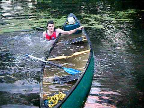 Canoe Deep Water Self Rescue Part 1 Youtube