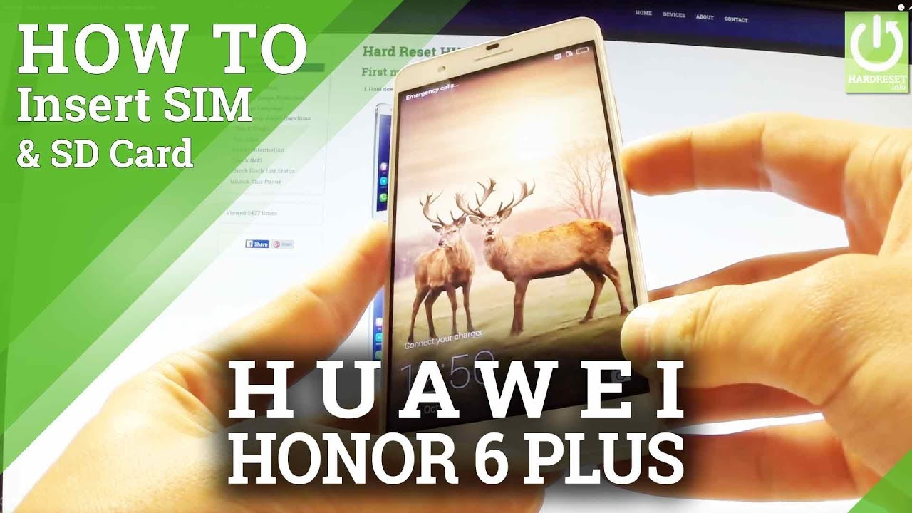 install sim sd card huawei honor 6 plus insert sim. Black Bedroom Furniture Sets. Home Design Ideas