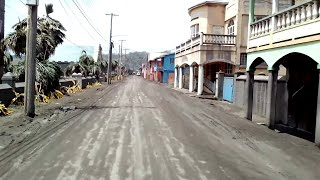 video: Watch: Deserted streets in St Vincent covered in ash from La Soufriere volcano