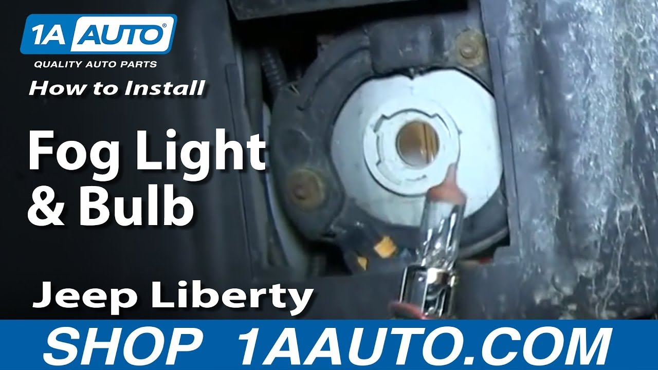 How To Install Replace Fog Light And Bulb 2002 04 Jeep Liberty Youtube Installing Trailer Wiring Harness Wj Cant Get Lights Work