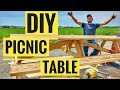 How to Make a Picnic Table + Free Picnic Table Plans