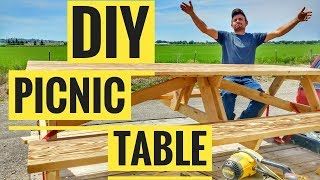 Need Plans for How to Make a Picnic Table? Sign up for the E-mail list here:http://eepurl.com/cR70Cz and I will send them to you!
