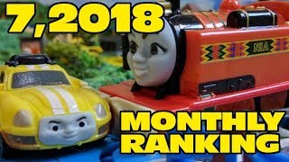 Thomas and friends : 7,2018 Monthly Ranking   capsule toys plarail