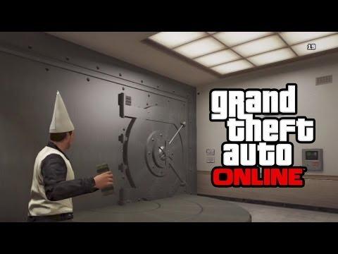 GTA 5 Online - Secret Bank Vault! GTA Online Glitch! (GTA V Online Multiplayer)