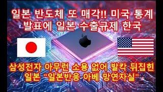 일본 반도체 또 매각!! 미국 통계 발표에 일본 수출규…