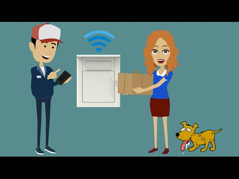 Smart Parcel Delivery Box from Cottner