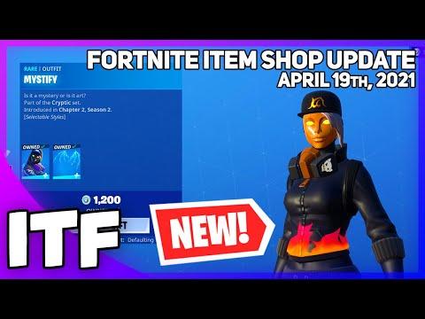 Fortnite Item Shop *NEW* CRYPTIC EDIT STYLES! 🔥 [April 19th, 2021] (Fortnite Battle Royale)