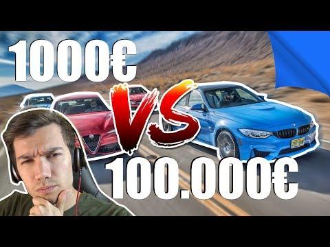 AUTO 1000€ VS AUTO 100.000€ ?! [ PARTE 2 ]