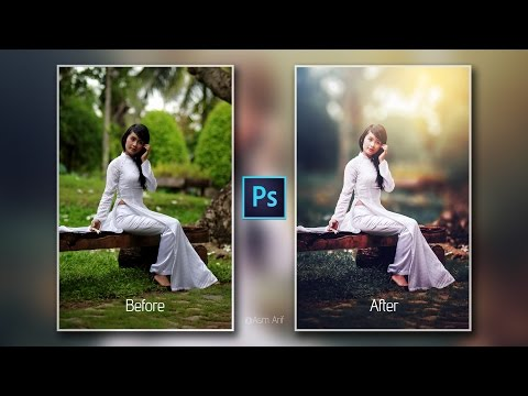 Photoshop cc Tutorial : Outdoor Portrait Retouching📷