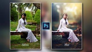 Photoshop cc Tutorial : Outdoor Portrait Retouching📷