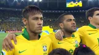 Confederations Cup 2013, Brazilian anthem at the final match