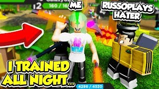 I Found A RUSSO HATER So I TRAINED ALL NIGHT To BECOME STRONGER In TREASURE QUEST!! (Roblox)