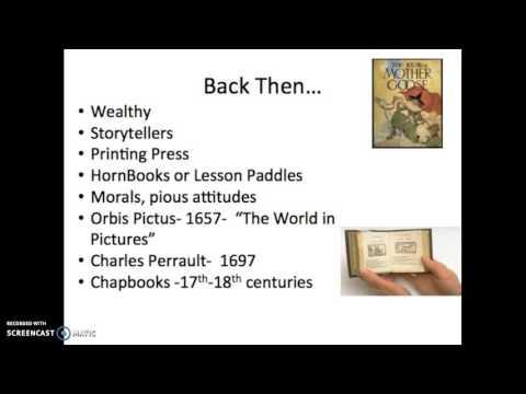 History of Children's Literature Part I