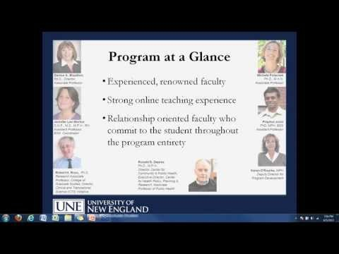 UNE Master of Public Health online information session