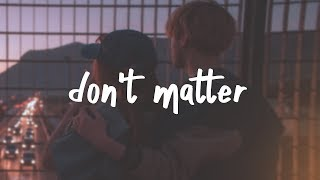 lauv - don't matter (lyric)
