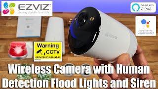 EZVIZ BC1 x3 2MP Long-Life Rechargeable Battery Camera + Wi-Fi Base Station Kit video