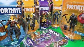 FORTNITE Action Figures - Raptor, Omega, Carbide, Teknique, Bandolier & Drift | Jazwares Toys