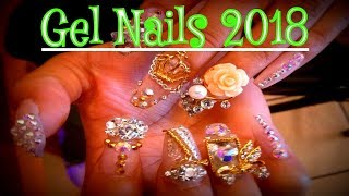 Gel Nails EZ Smoke Effect Gel Nail Art new Video 2018  💓💝