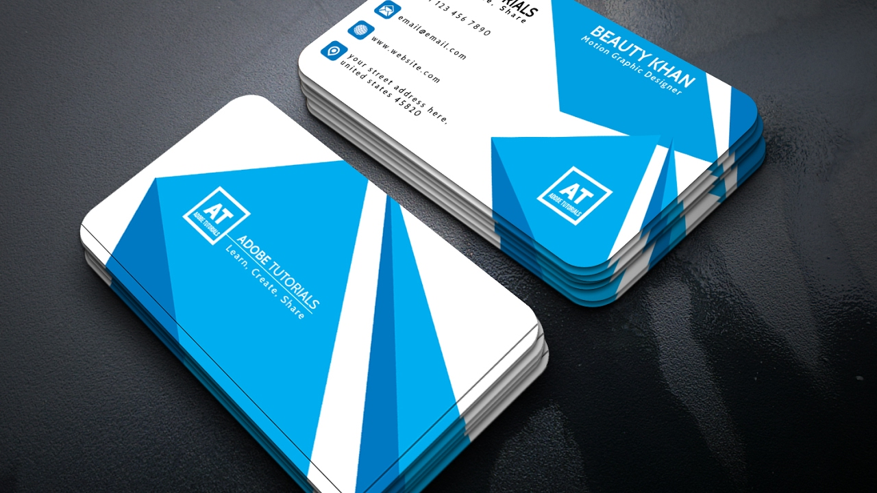 Adobe Illustrator Tutorial Business Cards Design Illustration Tutorials By