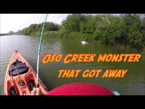 Kayak Fishing, Corpus Christi Texas - Oso Creek Monster That Got Away.