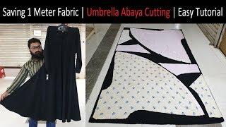 Saving 1 Meter Fabric   How To Cutting Abaya Easy Tutorial