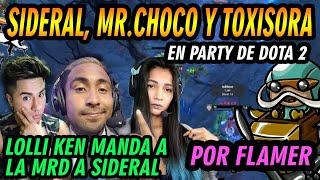 MR.CHOCO, SIDERAL Y LOLLIKEN EN PARTY DE DOTA 2, LE TOCAN UN GIRO BOOSTER HERALDO - DOTA 2