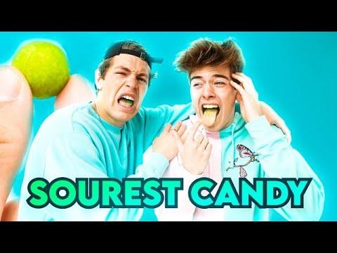 EATING THE WORLD'S MOST SOUREST CANDY!!! | BEN AZELART VS JEREMY HUTCHINS