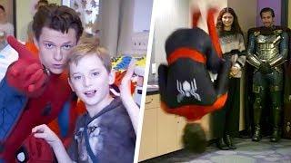 Tom Holland BACKFLIPS During Children's Hospital Visit