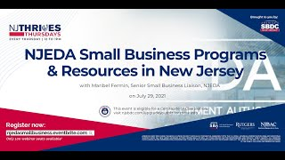 NJTT#013: NJEDA Small Business Programs & Resources in New Jersey