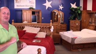Solid Wood Amish Built American Made Bedroom, More