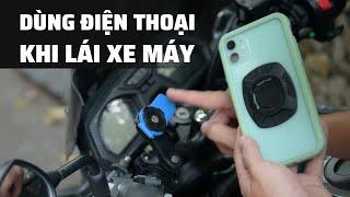 Chia sẻ: Việc gắn điện thoại trên xe máy