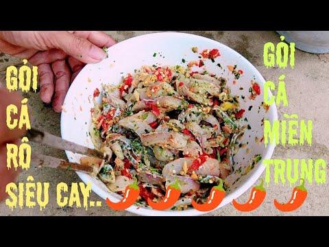 Gỏi cá rô siêu cay – Ẩm thực miền trung