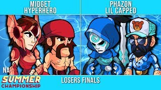 Midget & HyperHero vs Phazon & Lil Capped - Losers Finals - Summer Championship NA Top 3