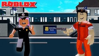 DANGEROUS ROUTINE AS A POLICE OFFICER | Bloxburg Rollenspiel | Roblox