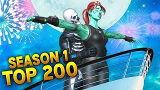 TOP 200 BEST MOMENTS OF SEASON 1 - FORTNITE (Fails and Funny Moments)