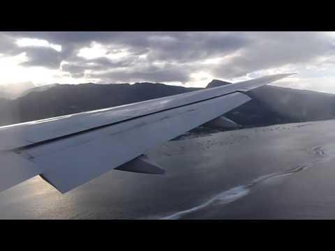 landing in Tahiti