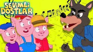 Üç Küçük Domuzcuk masal şarkısı  Sevimli Dostlar Bebek Şarkıları   Adisebaba Çocuk Şarkıları