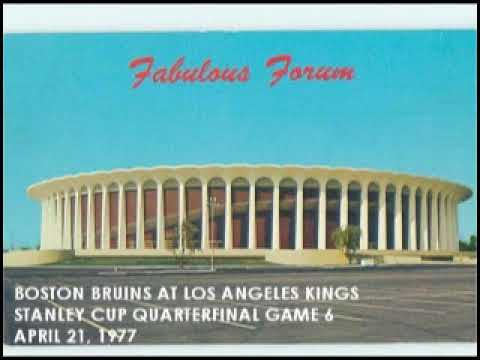 RADIO BROADCAST: Boston Bruins At Los Angeles Kings, 1977 Stanley Cup Playoffs Game 6.