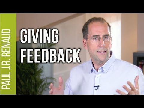 How to Give Feedback to Peers  |  Paul Renaud