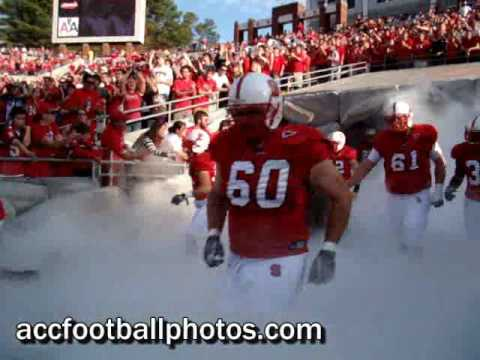 Intimidating football entrance smoke
