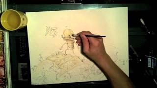 Time Lapse | Machinarium Watercolor