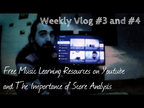 #musiclife 2018 Vlog #3  - Free Music Learning Resources on Youtube