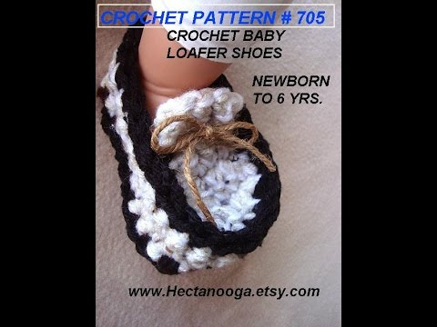 Baby Loafers Booties Age 1 Year Crochet Pattern Video Tutorial
