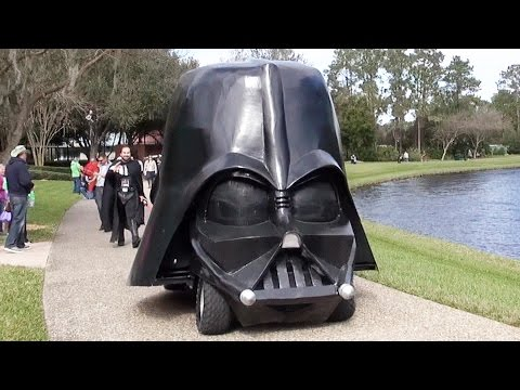 Star Wars Darth Vader Bouncing Pargo Cart Float in Disney's Port Orleans Mardi Gras Parade 2016