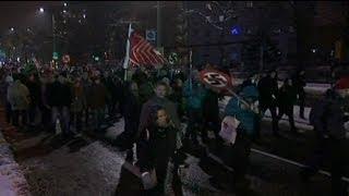 Dresden anti-fascist protesters block neo-Nazi march