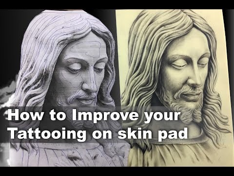 How To Improve Your Tattooing On Skin Pad   For Beginner Tattoo Artist   Tutorial Part - 22
